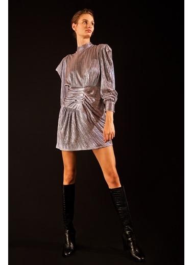 Love My Body Elbise Gümüş